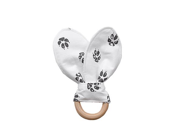 Crinkle Bunny Ear Teething Ring   Paws