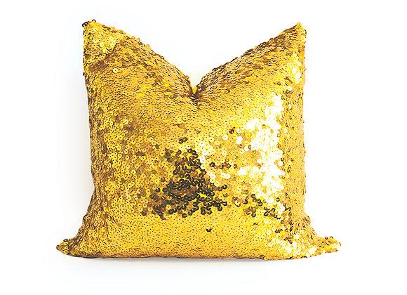 Sequins Pillow | Gold