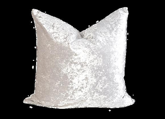 Crushed Velvet Pillow   Oyster