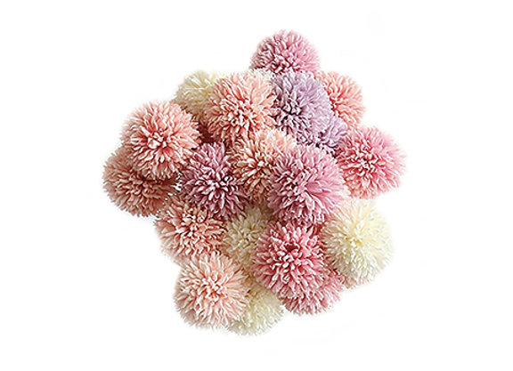 Faux Flower Poms [Assorted Colours]