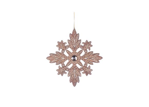 Glitter Snowflake Ornament | Blush Copper