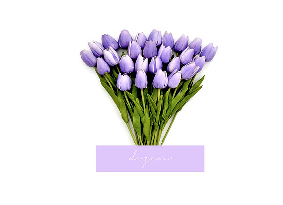 [DELUXE] Tulips, Dozen | Purple