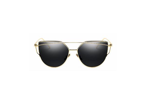Candace Sunglasses | Black + Gold