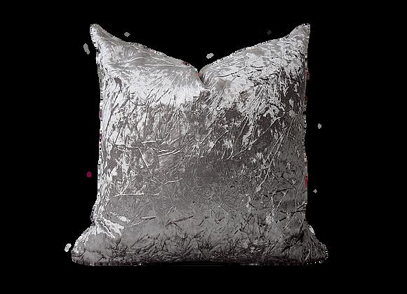 Abstract Velvet Pillow   Platinum Grey