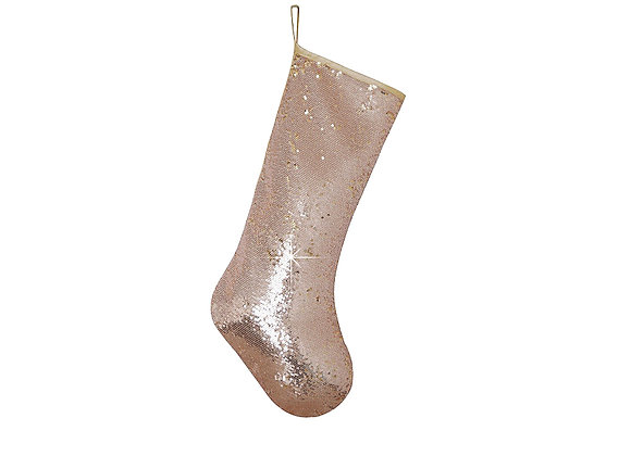 Sequins Stocking | Rose Gold