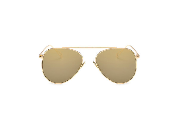 Harlow Sunglasses | Champagne + Gold