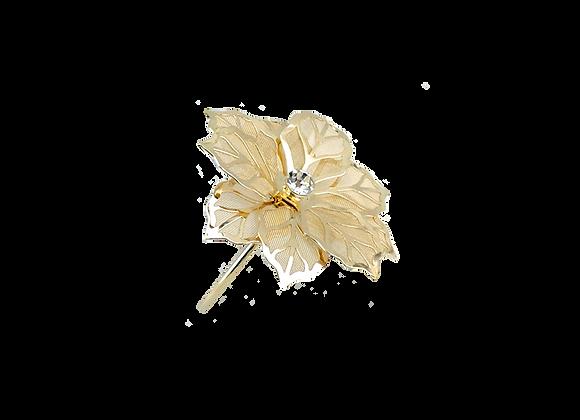 Flower Napkin Ring   Gold