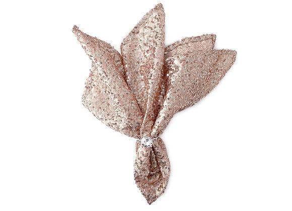 Sequins Napkins - Set of 4 | Blush Pink