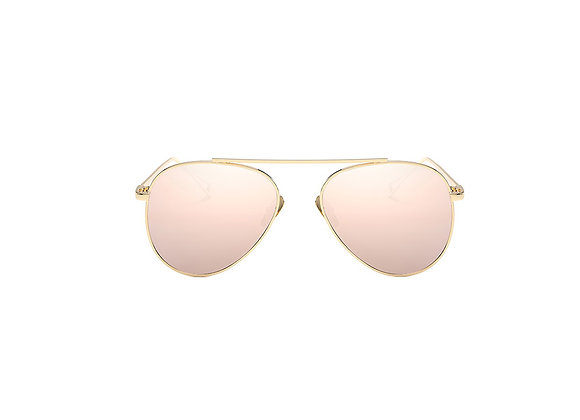 Harlow Sunglasses | Pink + Gold