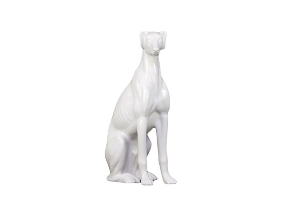Greyhound Statue | White