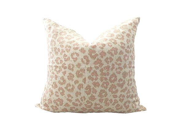 Leopard Pillow | Pink + Cream