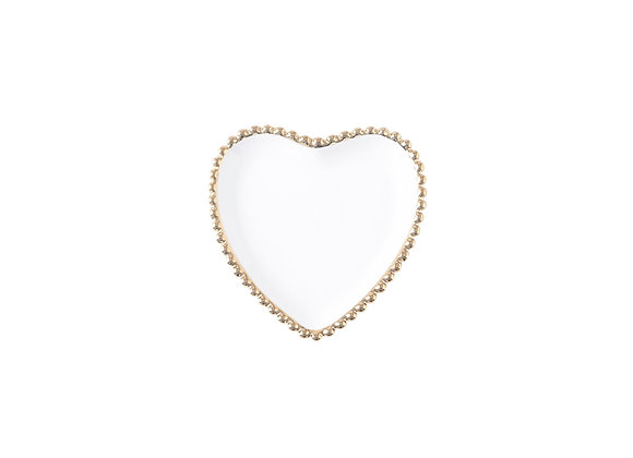 Heart Shaped Plate | White + Gold