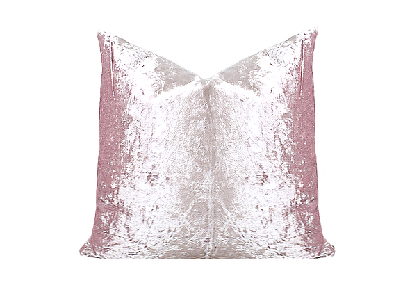 Crushed Velvet Pillow | Pink Lilac