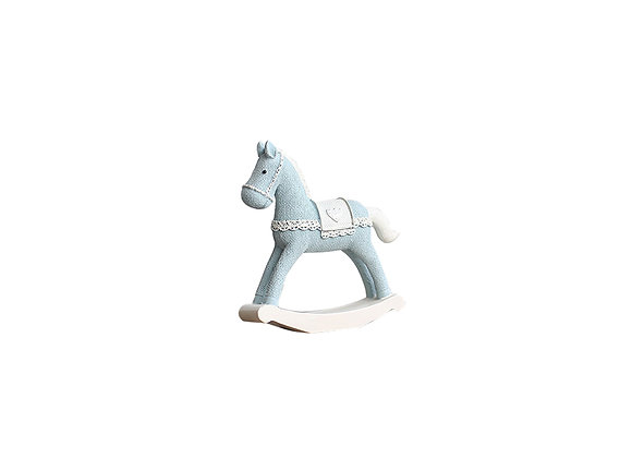 Miniature Rocking Horse | Light Blue