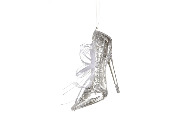 Pointed Toe Stiletto Ornament   Glitter Detail