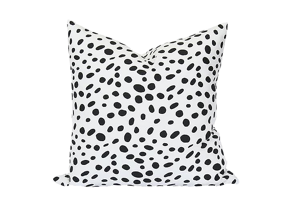 Dalmatian Pillow   Black + White