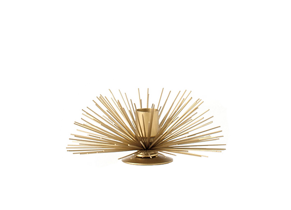 Spike Pod Candle Holder | Gold, Small