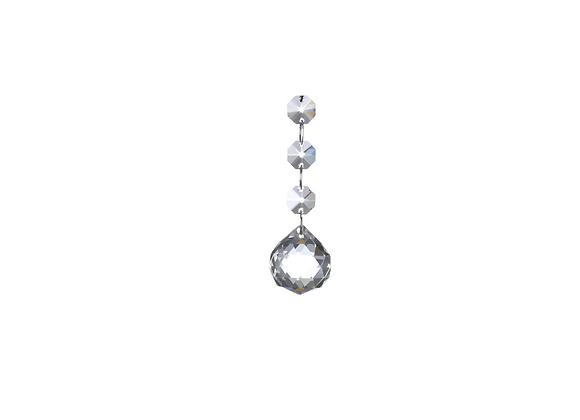 "Hanging Glass Ball Ornament   3.5"""