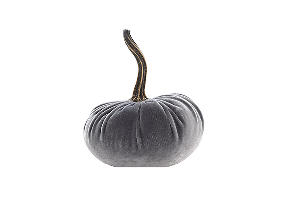 Velvet Fairytale Pumpkin | Grey