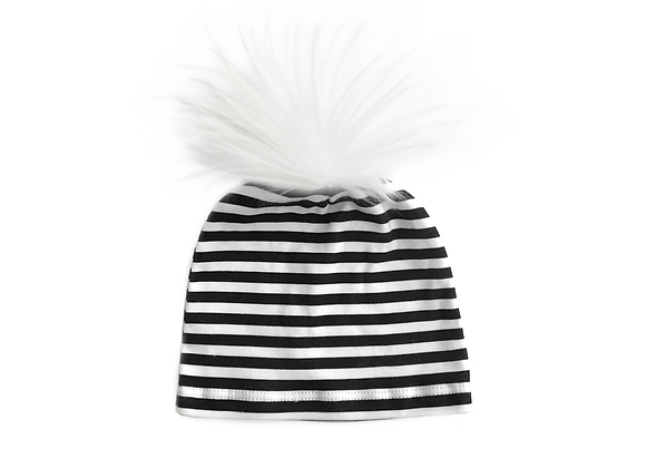 Pom Beanie | Stripe