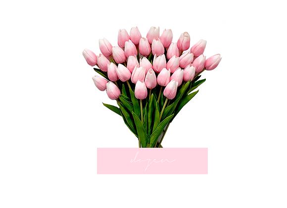[DELUXE] Tulips, Dozen | Light Pink Ombre