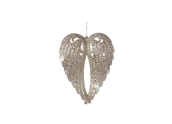 Glitz Fairy Wing Ornament | Champagne