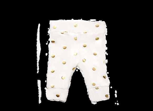 Baby Leggings | Gold Polka Dots