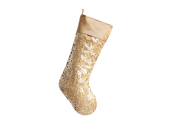 Sequins Stocking | Gold