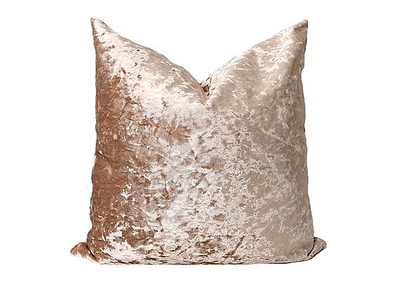 Crushed Velvet Pillow | Copper Beige
