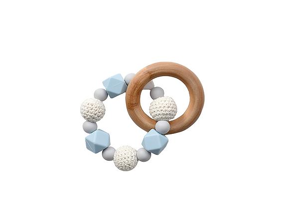 Crochet Teething Ring   Blue