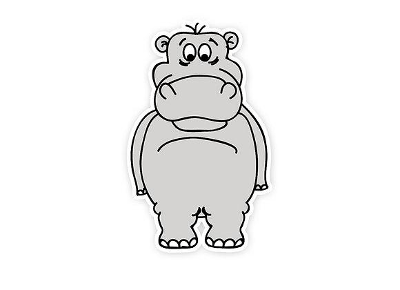 Harley the Hippo Wall Sticker
