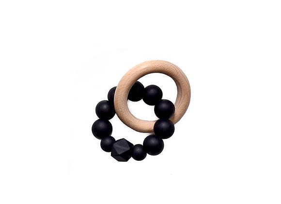 Silicone Teething Ring   Black