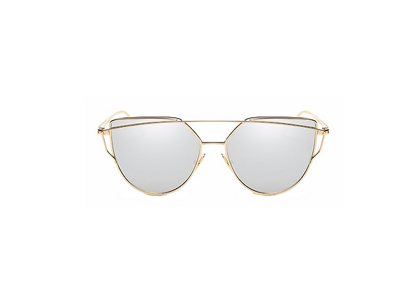 Candace Sunglasses | Silver + Gold