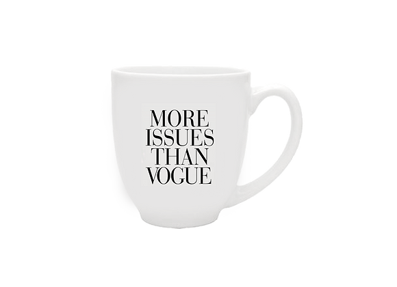 More Issues Than Vogue Mug | White