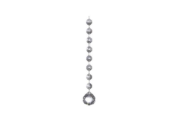 "Hanging Glass Ball Ornament   7.5"""