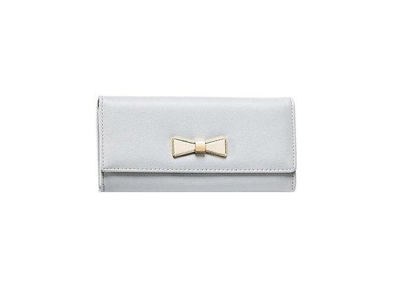 Gold Bow Wallet | Grey