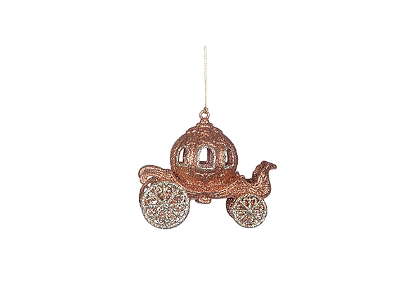 Glitter Coach Ornament | Copper
