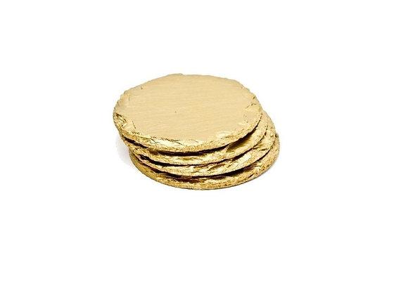 Slate Coasters - Set of 4 | Gold