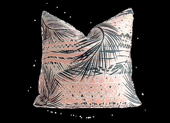 Tropical Floral Print Pillow