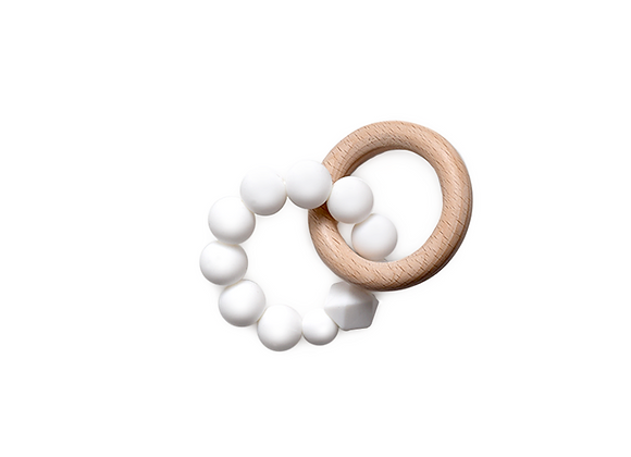 Silicone Teething Ring | White