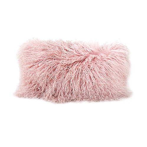 this gorgeous mongolian fur throw pairs beautifully with our make me blush collection available in a one of a kind dusty mauve pink hue this beauty is
