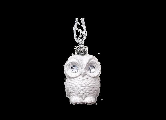 Glitter Owl Ornament   White