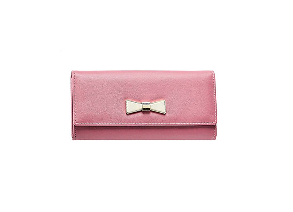 Gold Bow Wallet | Dusty Rose