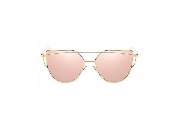 Candace Sunglasses | Pink + Gold