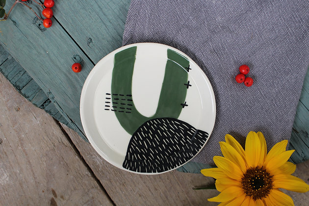 Abstract Ceramic Side Plate - Flatware – Home-wares  - Irish Pottery