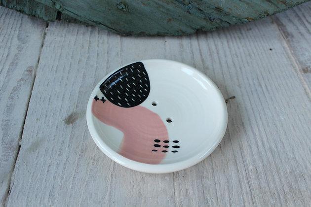 Blush Abstract Ceramic Soap Dish & Beaker - Handmade Irish Gifts - Irish Pottery - Homewares - New Home Gifts