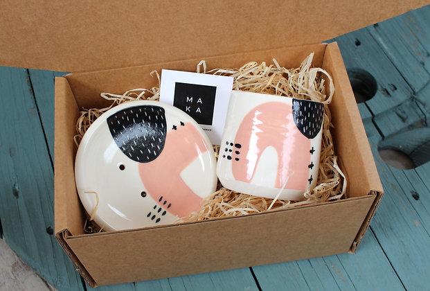 Blush Ceramic Bathroom Gift Set - Handmade Irish Gifts - Irish Pottery - Homewares - Irish Made Occasional Gifts