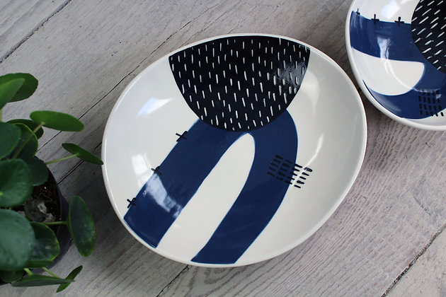 Navy Handmade Dish - Handmade Irish Gifts - Irish Pottery - Tableware - New Home Gifts