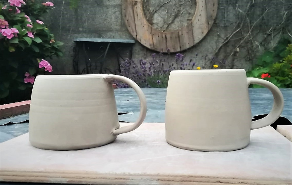 Pottery studio Kilkenny - greenware mug design