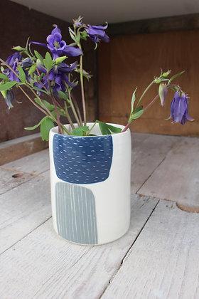 Abstract Vase Navy/Black | Ceramic Homewares | Handmade Irish Gifts | Christmas Gifts